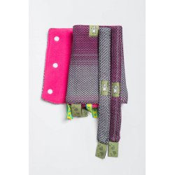 LennyLamb Drool Pads and Reach Straps Set Little Herringbone Inspiration