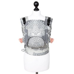 Fidella Fusion babycarrier with buckles - Venetian Mask - grey