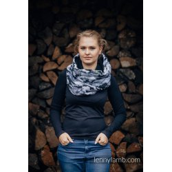 LennyLamb Snood Scarf Grey Camo & Black