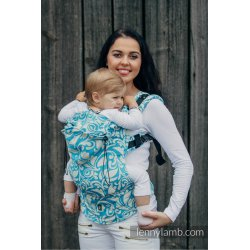LennyLamb ergonomic carrier Twisted Leaves Cream & Turquoise