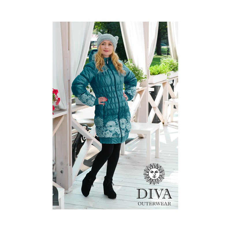 b551fb8e532f Diva Milano babywearing winter coat 3 in 1 Mare - ŠátkoMánie.cz