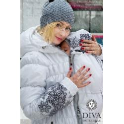 Diva Milano zimní kabát 3v1 Bianco