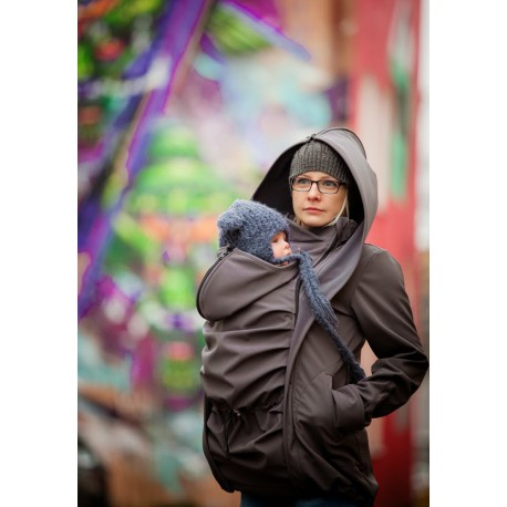 LennyLamb Babywearing coat softshell - Charcoal