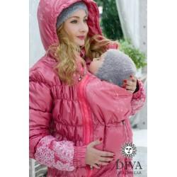 Diva Milano babywearing winter coat 3 in 1 Corallo