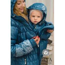 Diva Milano babywearing winter coat 3 in 1 Azzurro