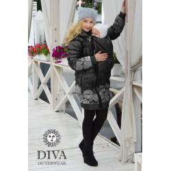 Diva Milano babywearing winter coat 3 in 1 Nero