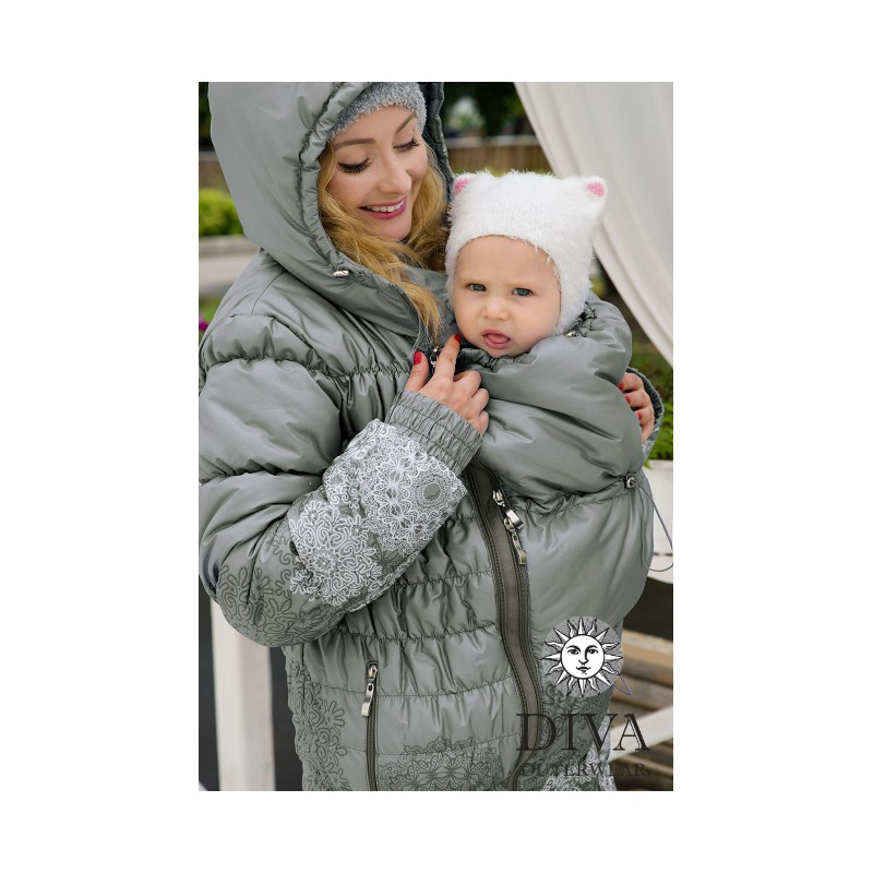 d288a2cdabbd sleek d6001 a2f08 babywearing winter coat 4 in 1 with a back carry ...