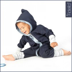 Fidella Outer Space Blue - kids overall
