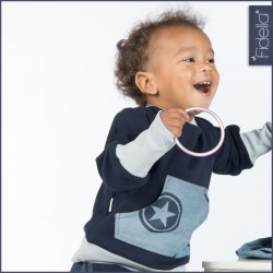 Fidella Outer Space Blue - kids sweater