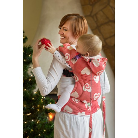 LennyLamb ergonomic carrier Sweetheart coral and biege