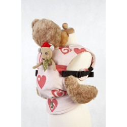 LennyLamb Doll Carriers Sweetheart Coral and Cream
