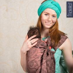 Fidella ring sling Persian Paisley Hazel