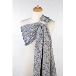 LennyLamb Ring sling Paisley Navy Blue and Cream