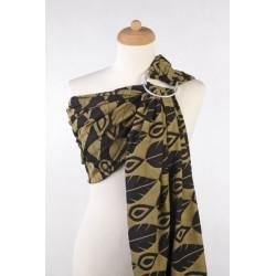 LennyLamb ring sling Northern Leaves Black & Yellow