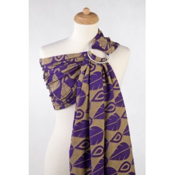 LennyLamb Ring sling Northern Leaves Purple & Yellow