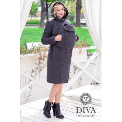 Diva Milano vlněný nosící kabát 3v1 Antracite
