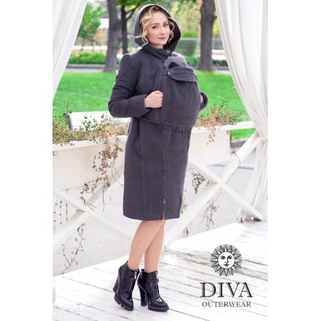 Diva Milano babywearing coat 3 in 1 (winter) Antracite