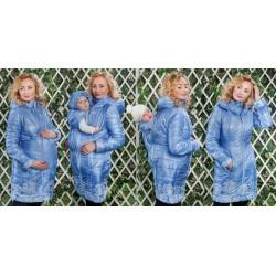 Diva Milano zimní kabát 4v1 Celeste
