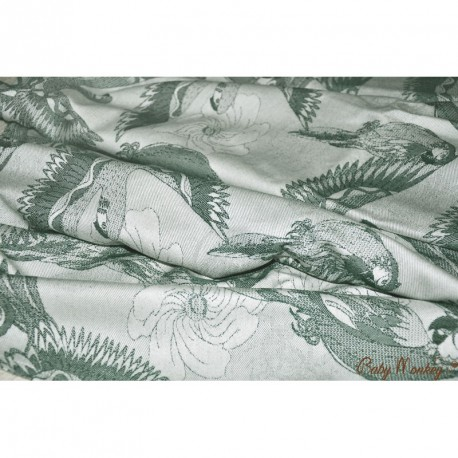 Baby Monkey Ring Sling - Parrots - Rosemary