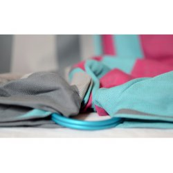 Pandabejbi Ring sling Mint loves Dark Grey