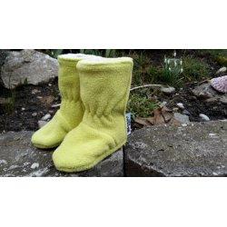 Green Baby fleecové botičky s tenkým beránkem