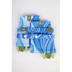 LennyLamb Drool Pads and Reach Straps Set Blue Waves 2.0
