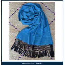 Indajani Rebozo Zapotec Turquoise
