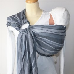 Didymos ring-sling Waves Silver