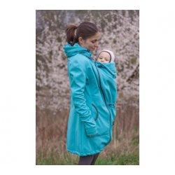 Loktu She Nosící Softshellový kabát - jezerní modrá