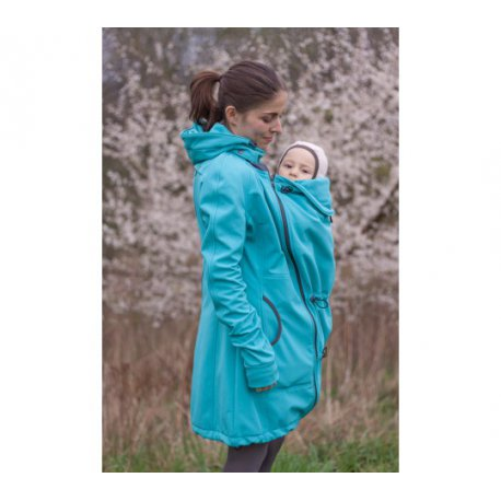 LoktuShe babywearing coat - sea blue