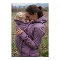 Loktu She Nosící Softshellový kabát - fialový melír