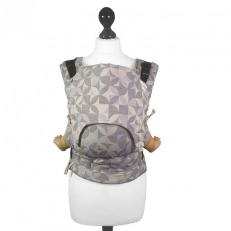 Fidella Fusion babycarrier with buckles - Kaleidoscope - sand