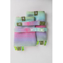 LennyLamb Drool Pads and Reach Straps Set Little Herringbone Impression