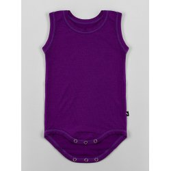 DuoMamas childern bodysuit - no sleeves - dark purple