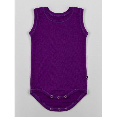 DuoMamas childern bodysuit - no sleeves - dark purple