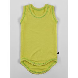 DuoMamas childern bodysuit - no sleeves - lime