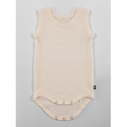 DuoMamas childern bodysuit - no sleeves - cream
