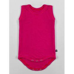 DuoMamas childern bodysuit - no sleeves - pink