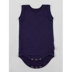 DuoMamas childern bodysuit - no sleeves - navy