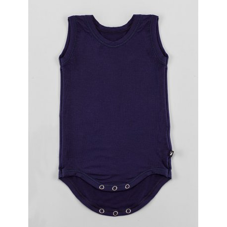DuoMamas childern bodysuit - no sleeves - navy