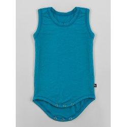 DuoMamas childern bodysuit - no sleeves - emerald