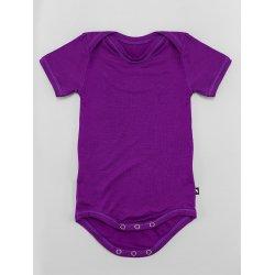 DuoMamas childern bodysuit - short sleeves - dark purple