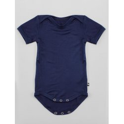 DuoMamas childern bodysuit - short sleeves - navy