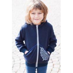 Angel Wings - kids sweater - navy