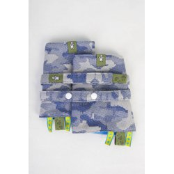 LennyLamb Drool Pads and Reach Straps Set - Blue Camo