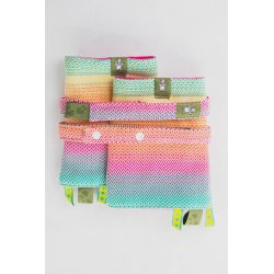 LennyLamb Drool Pads and Reach Straps Set Little Herringbone Imagination