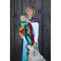 LennyLamb Ring Sling Rainbow Safari 2.0
