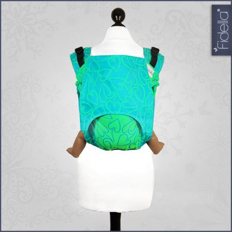 Fidella Onbuhimo back carrier - Amors Love Arrows green