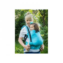 Isara ergonomické nosítko V3 Turquoise - šátkové