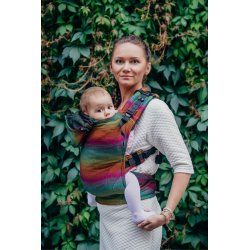 LennyLamb ergonomic carrier Little Herringbone Imagination Dark